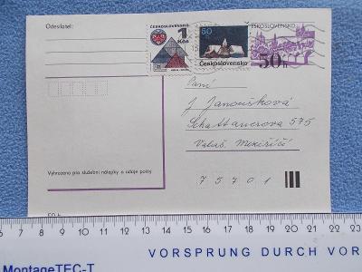 Celistvost Korespondenční lístek dofrankováno vyplaceno známkami