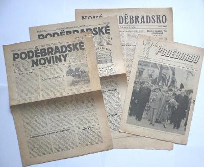 1936-1947 noviny Poděbrady
