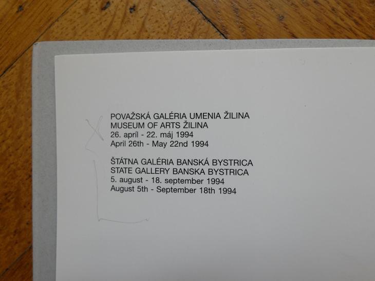 SIKORA RUDOLF KATALOG ŽILINA BANSKÁ BYSTRICA - Umění
