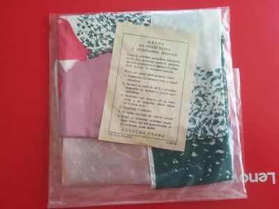 Přírodní hedvábí (b) - šátek 70x70 Czechoslovakia ZADRUHA-Praha (nový)