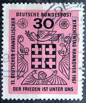 BUNDESPOST: MiNr.536 Peace Is Among Us 30pf 1967
