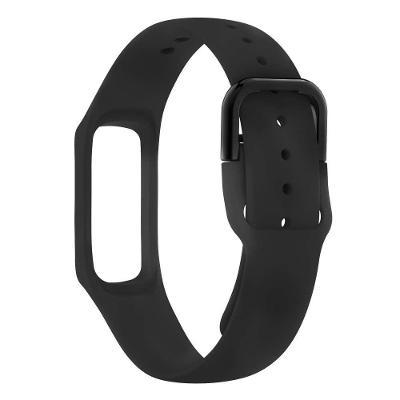 Silikonový řemínek  pro Samsung Galaxy  FIT ⓔ Fit-e R375 černý