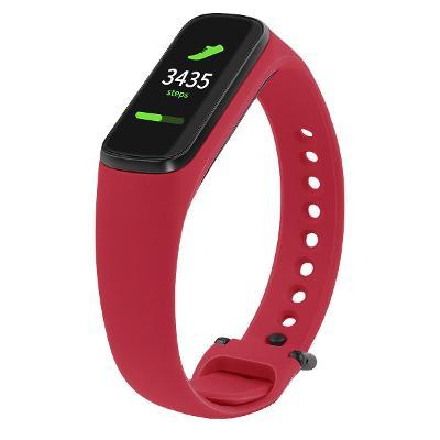 Silikonový řemínek  pro Samsung Galaxy  FIT ⓔ Fit-e R375 červený