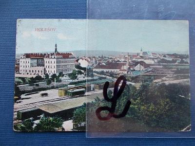Zlín Kroměříž  Holešov zámek nádraží železnice dráha vlak trať vagon