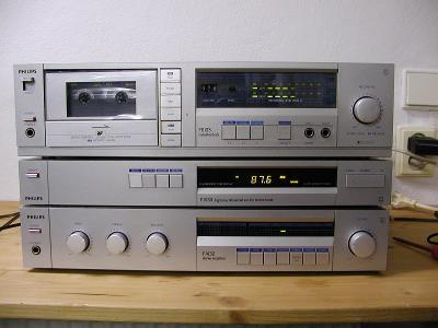 Philips F4132 stereo amplifier + F2133 stereo digital tuner + F6133