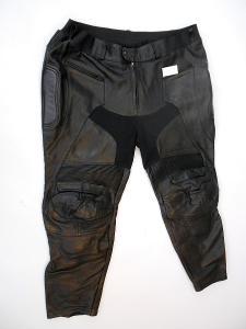 Kožené nadměrné kalhoty - pas 138cm