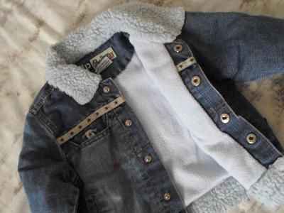 Pope Jeans - riflová,vyteplená bundička asi 86-92
