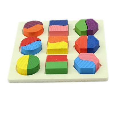 Dětské dřevěné puzzle naučná hra vkládačka 0449