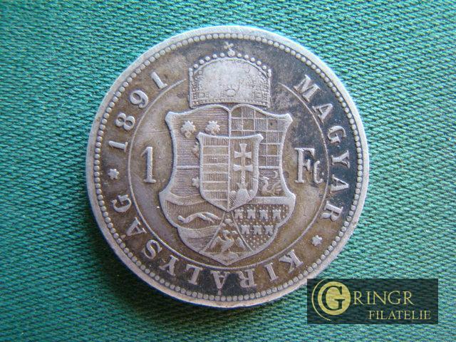 č.k. 47 - 1 Forint (se znakem Fiume) - 1891 KB - František Josef I. (  - Numismatika