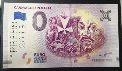 0 EURO Caravaggio in Malta - perforácia PRAHA 2019 = UNC