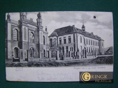 Zólyom - Polgári iskola és zsidó templom (Střední škola a synagoga)(Zv