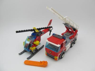 LEGO City set Hasičské auto s žebříkem + Vrtulník vic foto v popisu