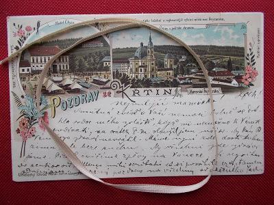 Brno Boskovice Blansko Křtiny lito koláž poutní místo Stará 1896 !!!!!