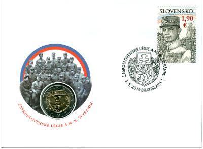 2019 - Numizmatická obálka: Československé légie a M. R. Štefánik