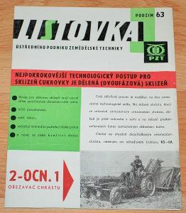 LISTOVKA 1963 - DOBOVÝ ZEMĚDĚLSKÝ MAGAZÍN