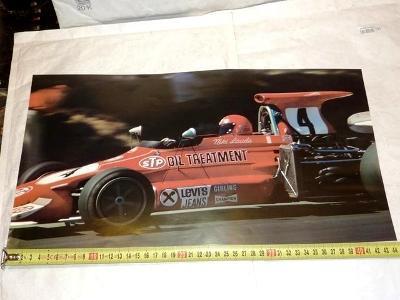1974  Formule  1.. Niki  LAUDA  .. March     .. plakátek  F1