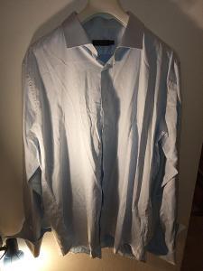 Pánská modrá košile značky Pierre Cardim 2XL