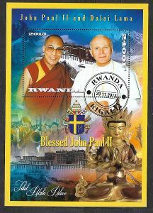 Rwanda - papež Jan Pavel II. a Dalajláma