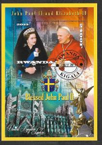 Rwanda - papež Jan Pavel II. a Alžběta II.