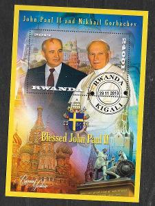 Rwanda - papež Jan Pavel II. a Gorbačov