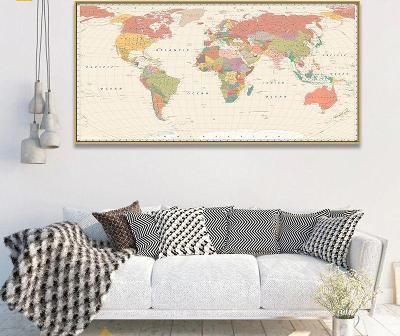 Velká mapa světa na plátně 80 x 160 cm