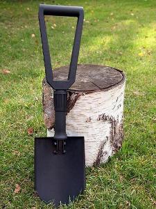 Skládací lopata do auta v pouzdře, polní lopatka, rýč, uhlíková ruk.