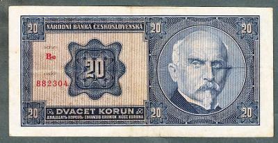 20 korun 1926 serie Be NEPERFOROVANA