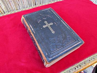 STAROŽITNÁ VELKÁ NĚMECKÁ BIBLE - BERLÍN - r. 1901  /8078/