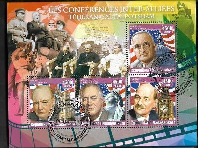 Madagaskar - Churchill, Truman, Roosevelt, Attlee