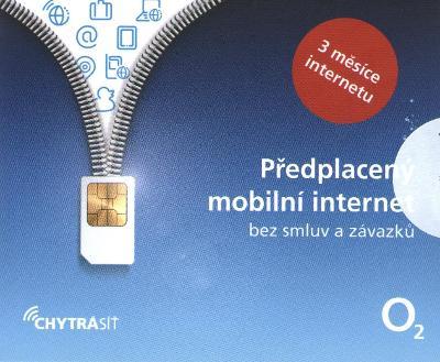 Předplacený mobilní internet O2 na 3měsíce = 4,5GB bez smluv a závazků