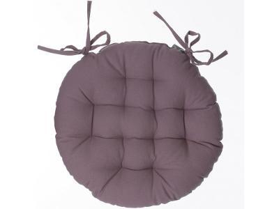 Kulatý polštář pro křeslo, barva taupe