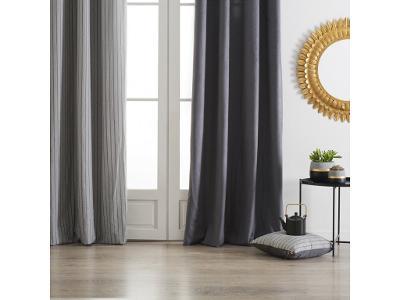 Okenní závěs na očkách, dekorativní závěs z bavlny