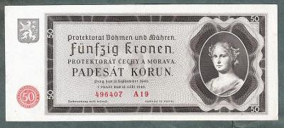 50 korun 1940 serie A19 NEPERFOROVANA stav 1-