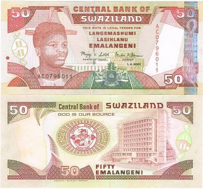 Eswatini / Suazi 50 emalangeni P-31 2001 UNC