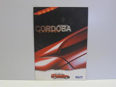SEAT CORDOBA -  Starý dobový reklamní prospekt