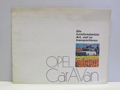 OPEL CARAVAN -  Starý dobový reklamní prospekt