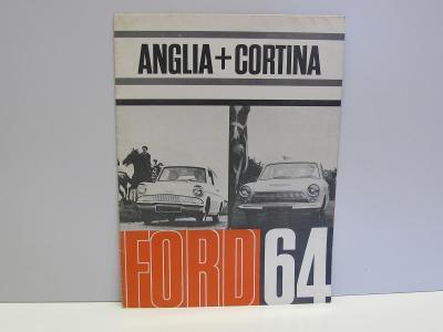 FORD CORTINA + ANGLIA  -  Starý dobový reklamní prospekt