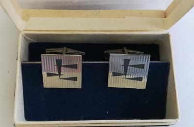 Stříbrné puncované manžetové knoflíčky