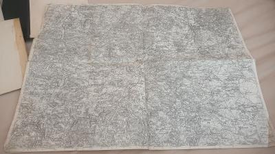 Vojenská mapa 1913-Vodňany-Protivin-Vlachovo Březí- zaniklé obce