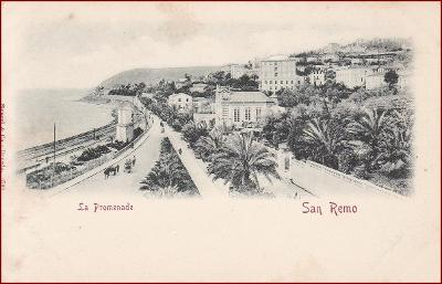San Remo * La Promenade, Stengel nr. 6708 * Itálie * Z1631