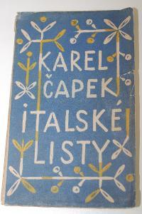Obrázek  Karel Čapek - Italské listy - 1923 - obálka Josef Čapek - 1. vydání!!!