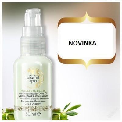 Zpevňující sérum na dekolt a krk s olivovým olejem