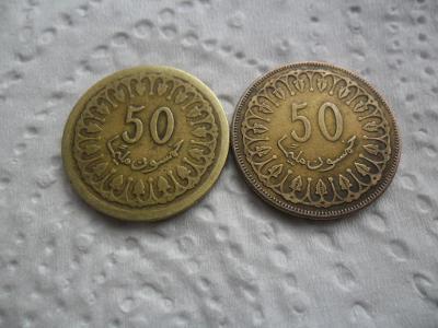 2Krát 50 Centimů Tunis.1960 - 2013.