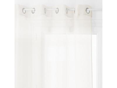 Okenní závěs s kovovými kroužky