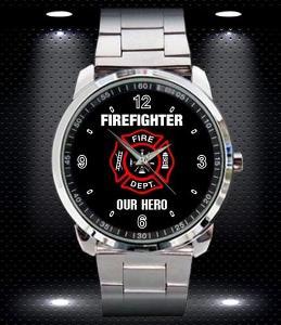 Firefighter Our Hero - hodinky nerezová ocel