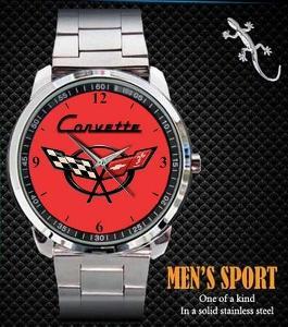 Chevrolet Corvette Logo - hodinky nerezová ocel