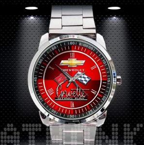Chevrolet Corvette Sting Ray Logo - hodinky nerezová ocel