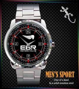 EBR Motorcycles Logo - hodinky nerezová ocel