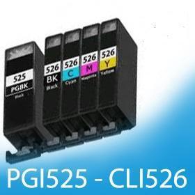 Kompatibilní sada pro Canon PGI 525 Bk CLI 526 Bk,C,M,Y