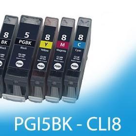 Kompatibilní sada pro Canon PGI 5 Bk CLI 8 Bk,C,M,Y